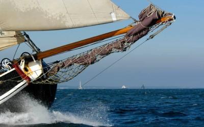 Plattboden schiff Segeln mit Egasail